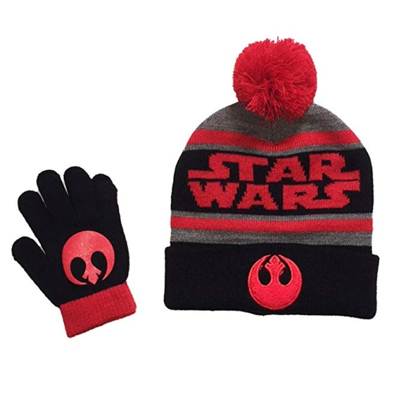 Kid s Star Wars Boys Rebel Alliance Hat Gloves Set f369989742a3
